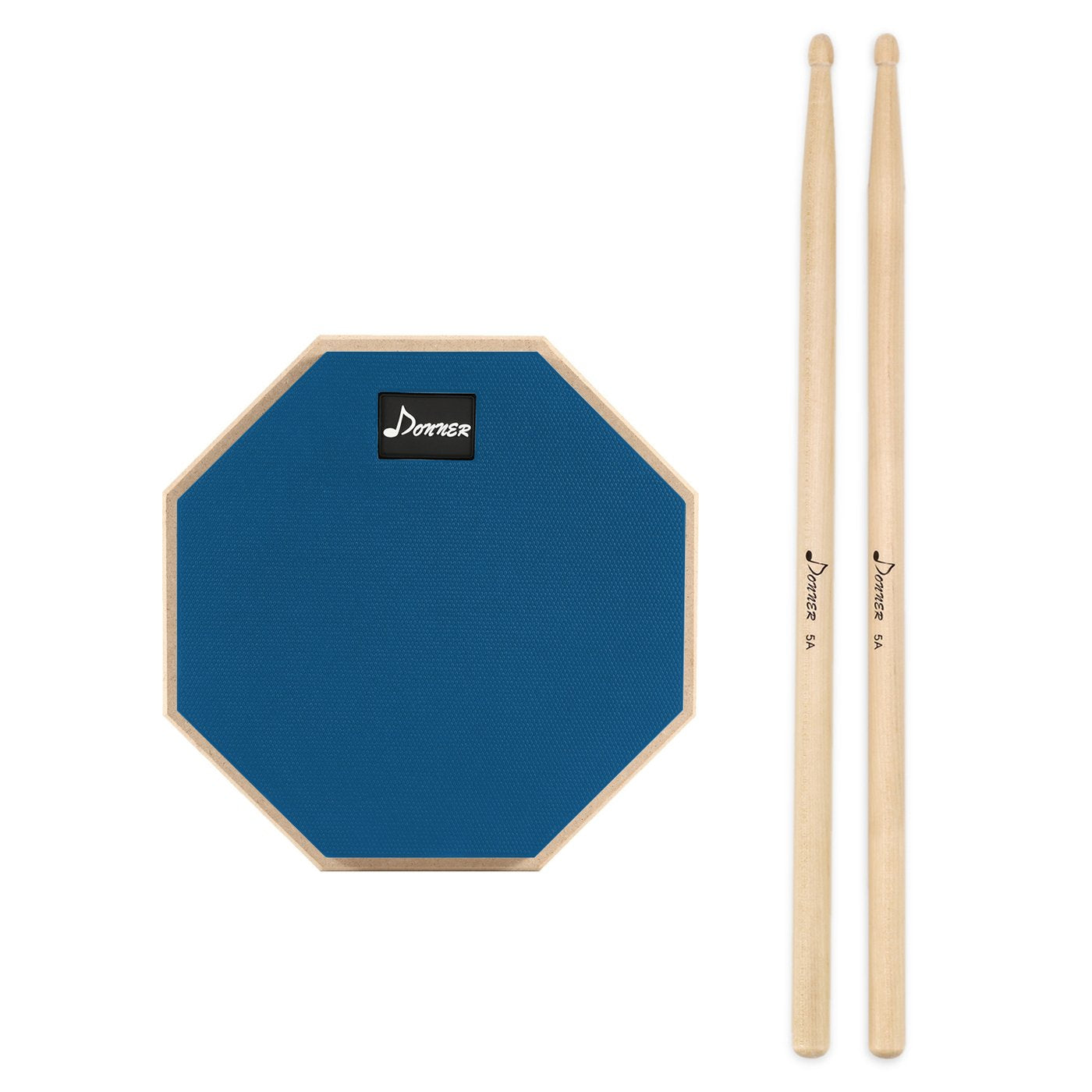 Blue Donner 8 Inches Drum Practice Pad With Drum Sticks