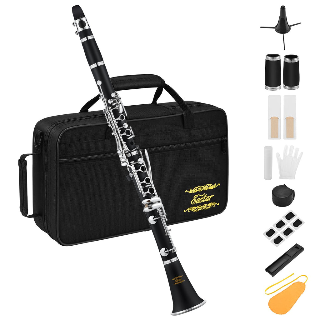 Eastar ECL-300 B Flat Clarinet Black Ebonite Clarinet Set