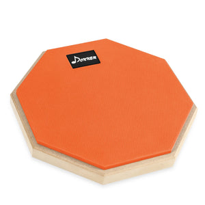 Orange Donner 8 Inches Drum Practice Pad With Drum Sticks