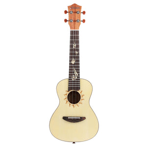 Donner Spruce 21 inch Soprano Ukulele with Accessories front
