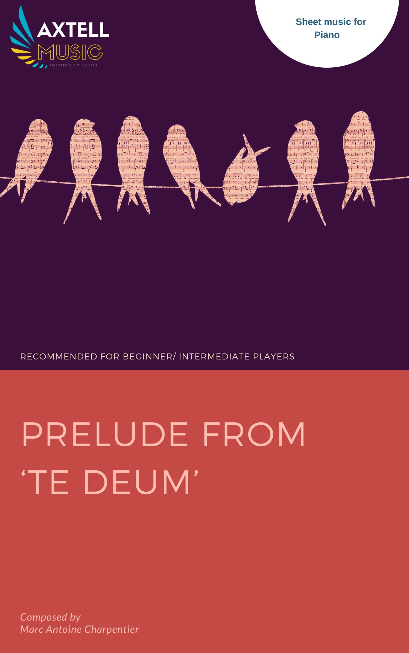 Prelude From 'Te Deum' Piano Sheet music cover  from Axtell Music - Inspired To Uplift
