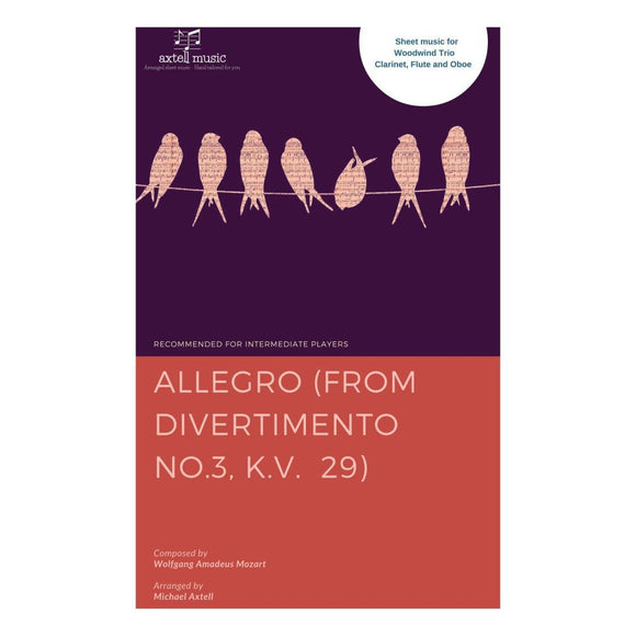 Allegro: From Divertimento No.3 K.v. 29 - Sheet Music