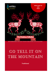 Go Tell It On The Mountain- Christmas sheet music for Easy Piano. Instant download now