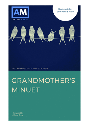 Grandmothers minuet digital sheet music Piano and violin Duet