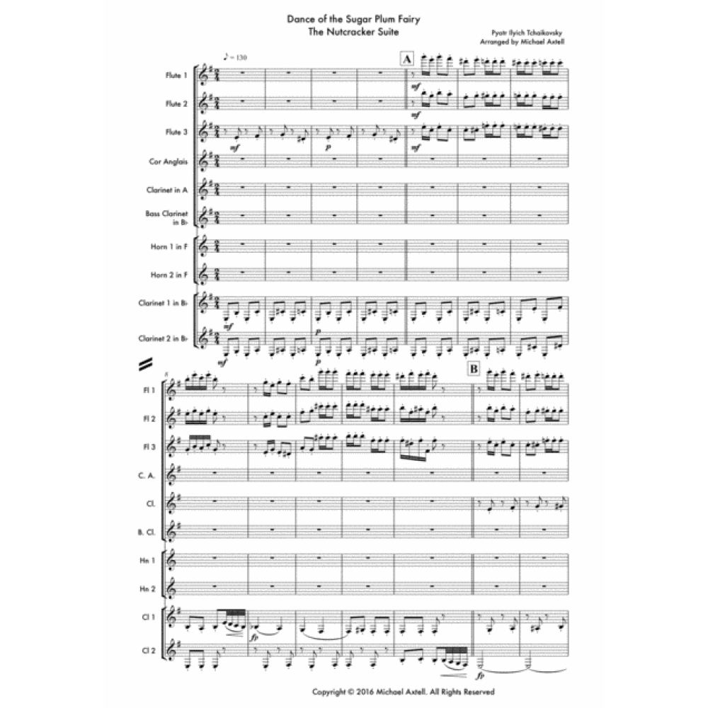Dance Of The Sugar Plum Fairy - Sheet Music. Dance Of The Sugar Plum Fairy - Woodwind Sheet Music. Woodwind Decet Arrangement of Dance of the Sugar Plum from 'The Nutcracker'.