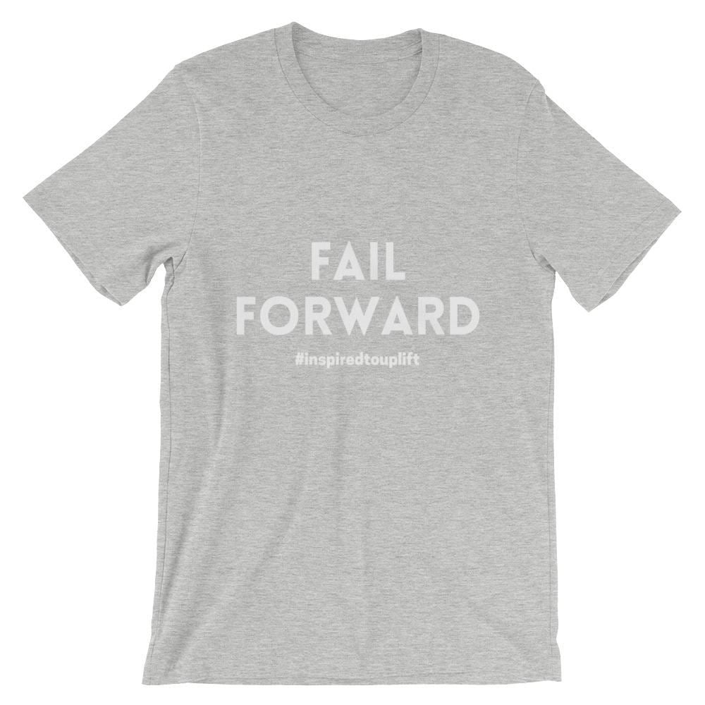 Fail Forward - Athletic Heather: Motivational Text T-shirt