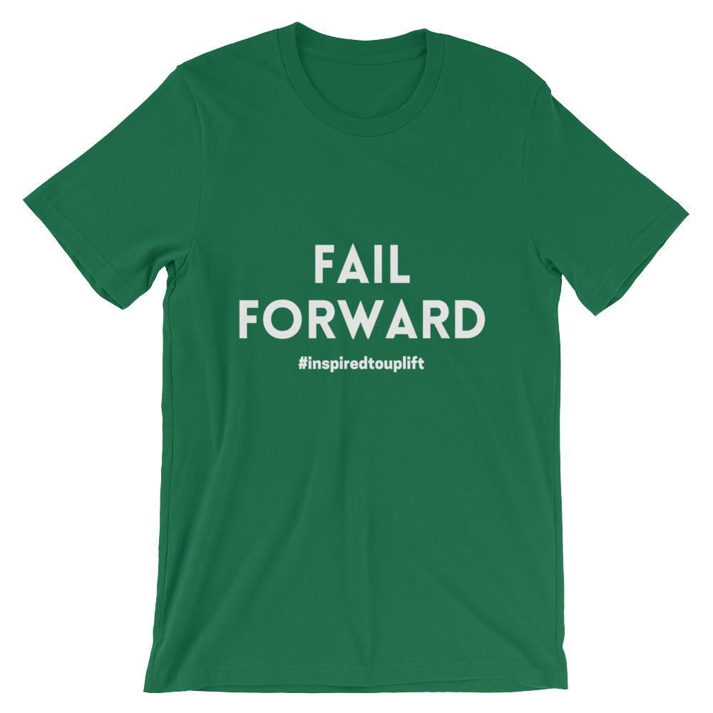 Fail Forward - Kelly: Motivational Text T-shirt