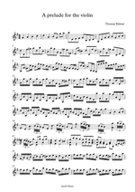 a prelude for violin digital sheet music