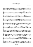 Paul's Steeple Solo Violin sheet Music for Advanced players.