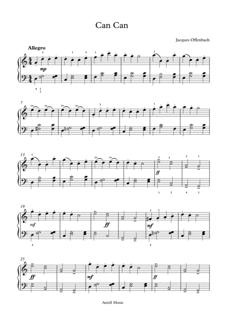 can-can-digital-sheet-music page 1. buy sheet music here