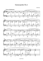 Gymnopedie No. 1, Piano sheet Music. Composed by Erik Satie. For intermediate Piano players.