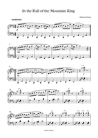 In the Hall of the Mountain King- Easy Piano Sheet Music