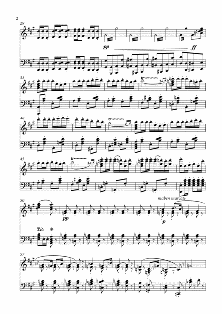 Prelude From Carmen - For Piano Sheet music instant digital Download from Axtell Music page 2