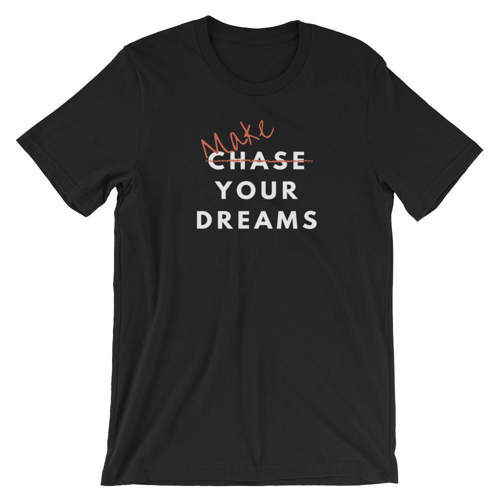 Make Your Dreams text T-shirt - Black / S - Apparel