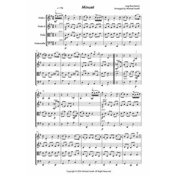 Minuet - Sheet Music