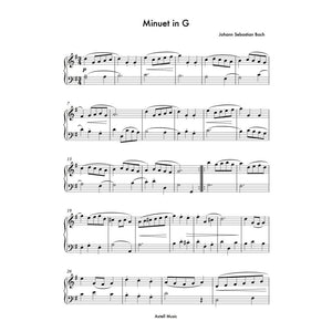 Minuet In G - digital Sheet Music for piano