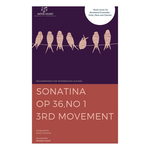 Sonatina Op. 36 No. 1 3rd Movement - Sheet Music