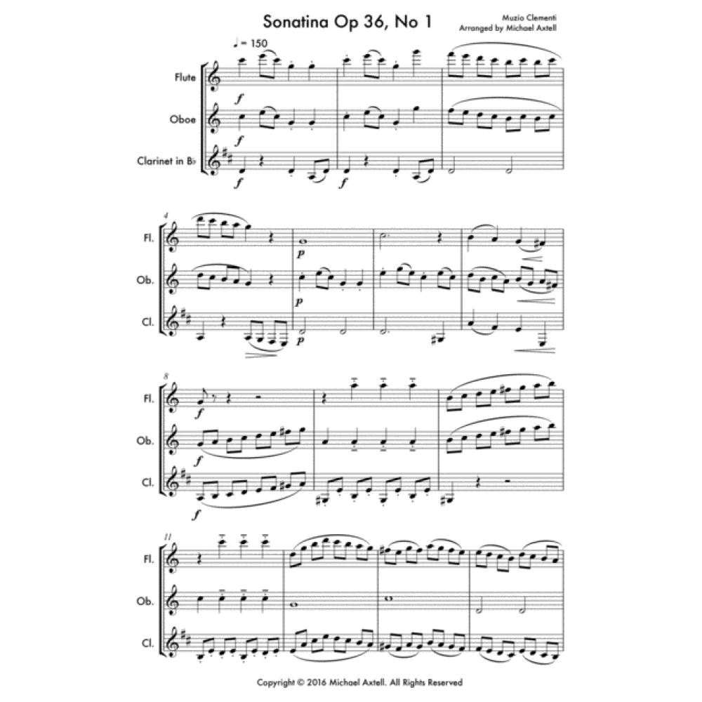 Sonatina Op 36 No 1 - Sheet Music