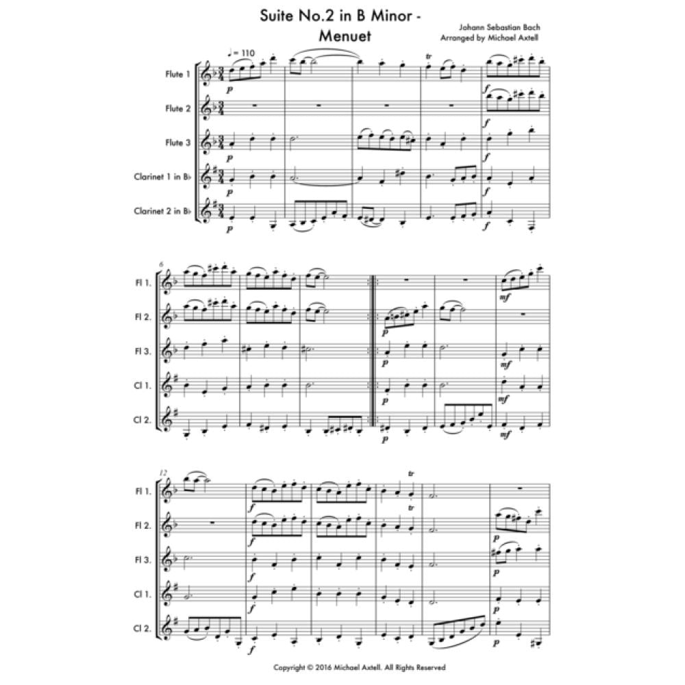 Suite No.2 In B Minor - Menuet - Sheet Music