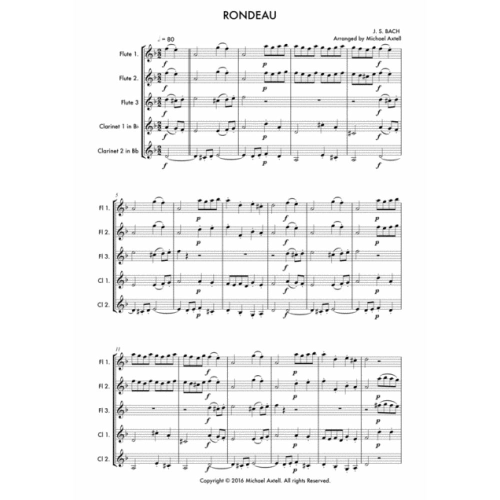 Suite No.2 In B Minor -Rondeau - Sheet Music