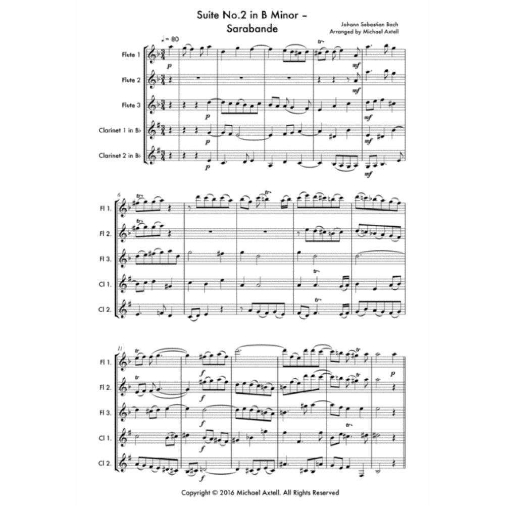 Suite No.2 In B Minor Sarabande - Sheet Music