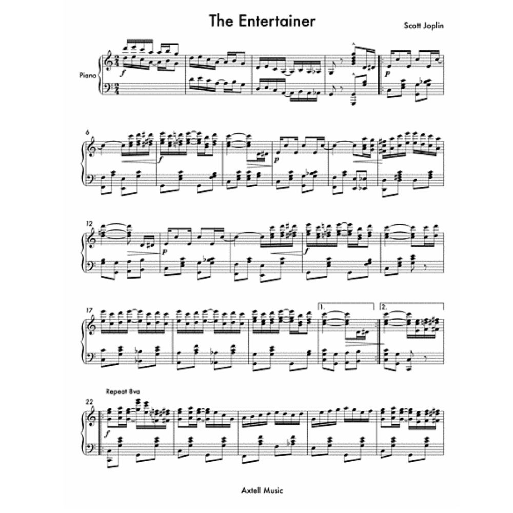 Scott Joplin 'The Entertainer' Sheet Music