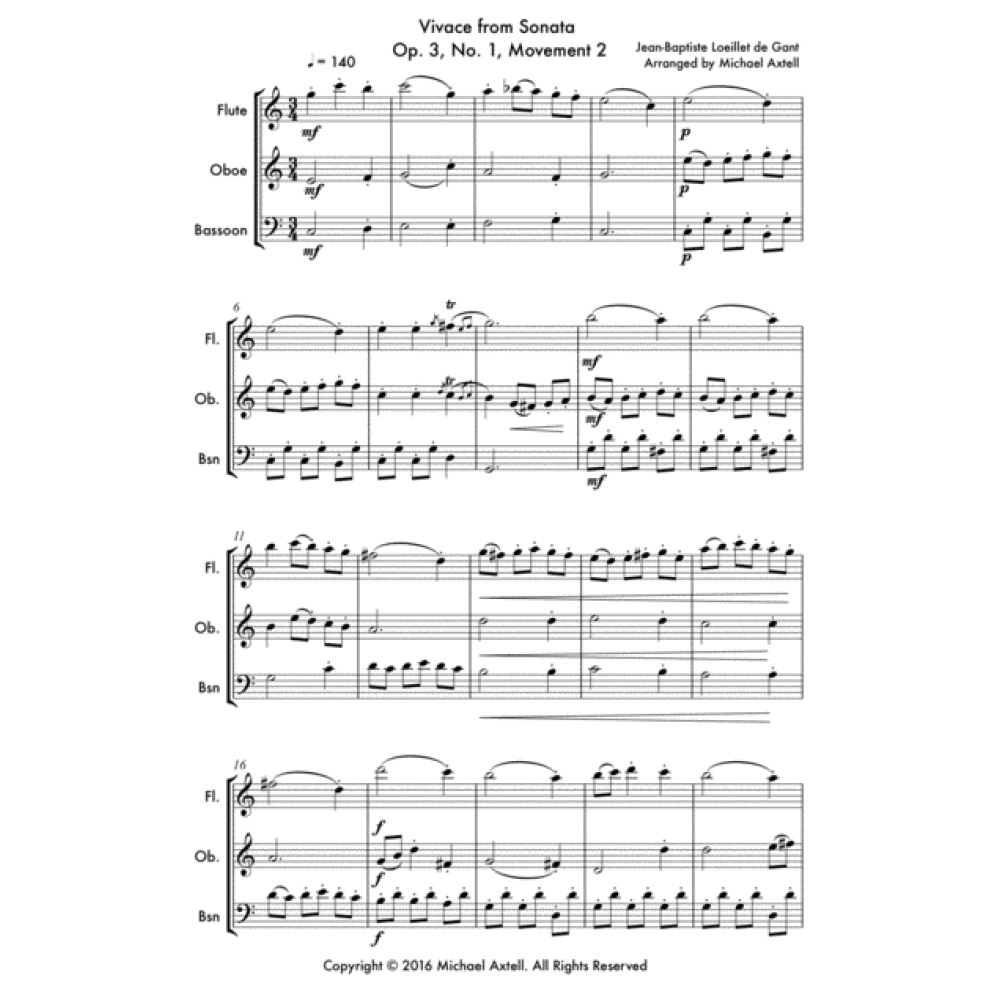 Vivace From Sonata Op. 3 No.1 Movement - Sheet Music