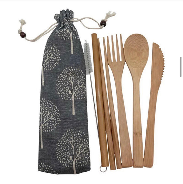 Bamboo Cuttlery Set