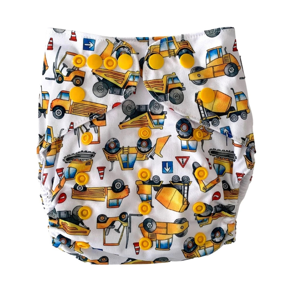 Road Works Cloth Nappy