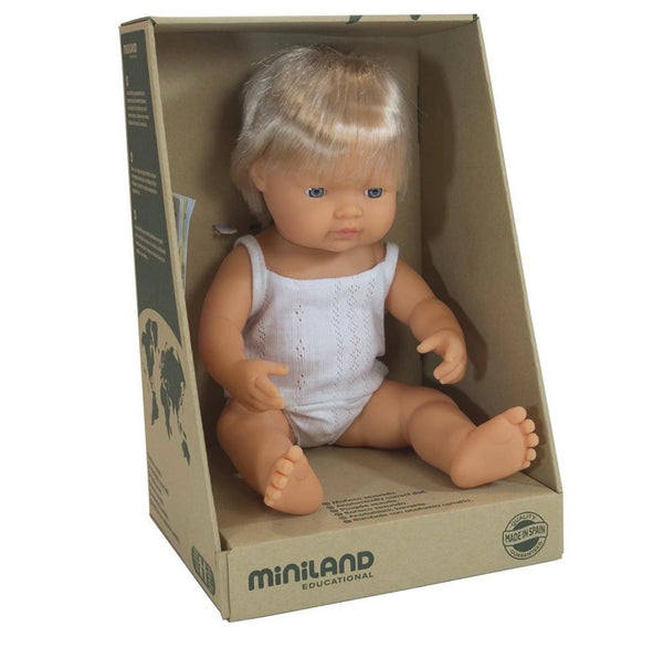 Miniland Anatomically Correct Baby Doll Caucasian Boy 38 cm