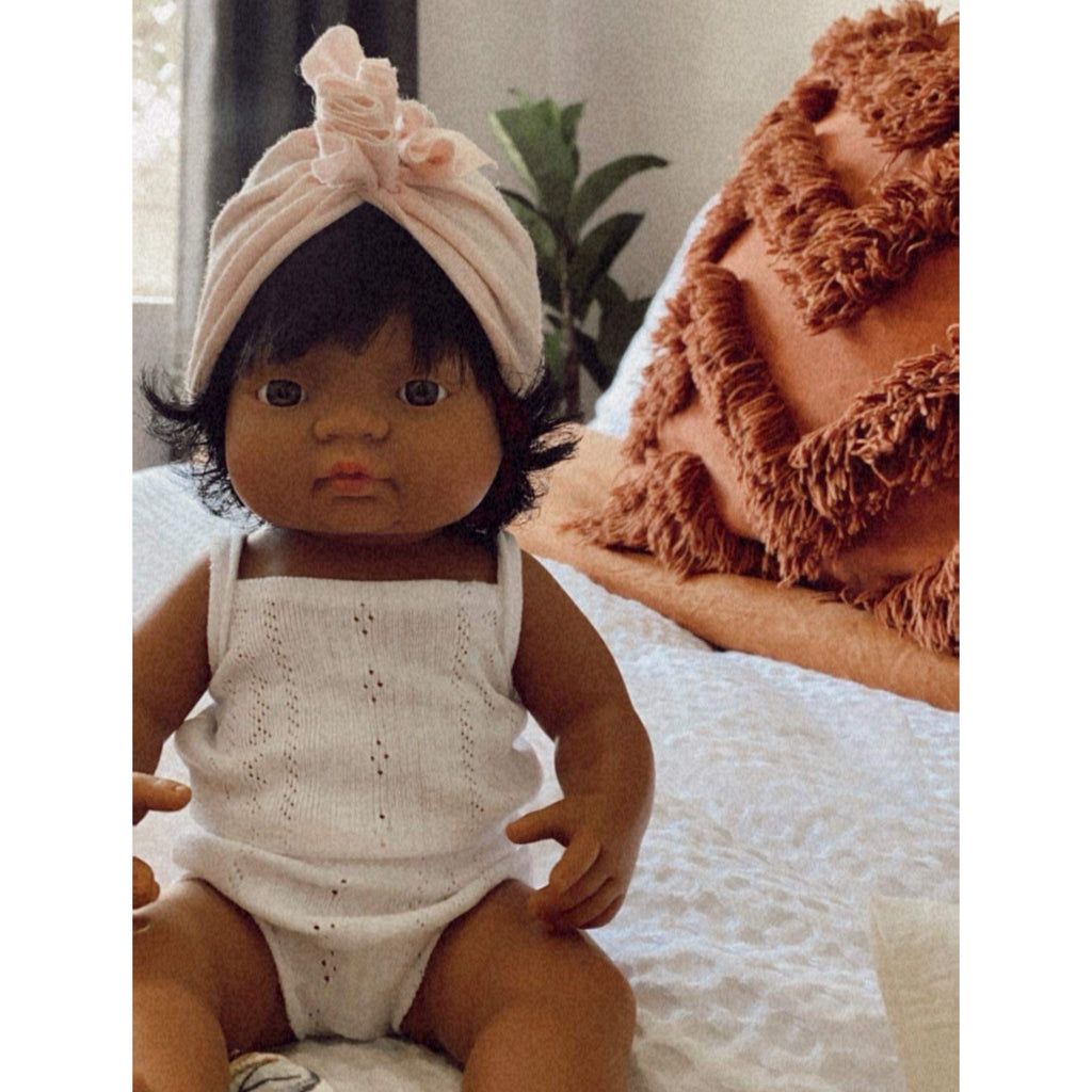 Miniland Anatomically Correct Baby Doll Hispanic Latin Girl, 38 cm