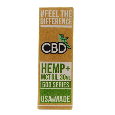 CBD Tincture Oil 500mg by CBDfx 30ml Box