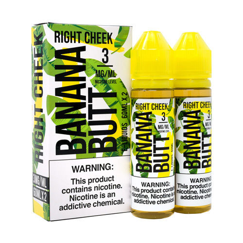 Banana Butt Right Cheek Vape Juice 120ml by FRYD Liquids