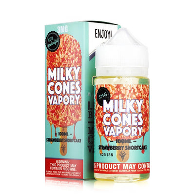 Milky Cones Strawberry Shortcake Vape Juice