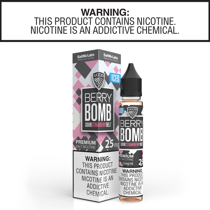 Iced Berry Bomb By VGOD Salt Nic Collection 30ml