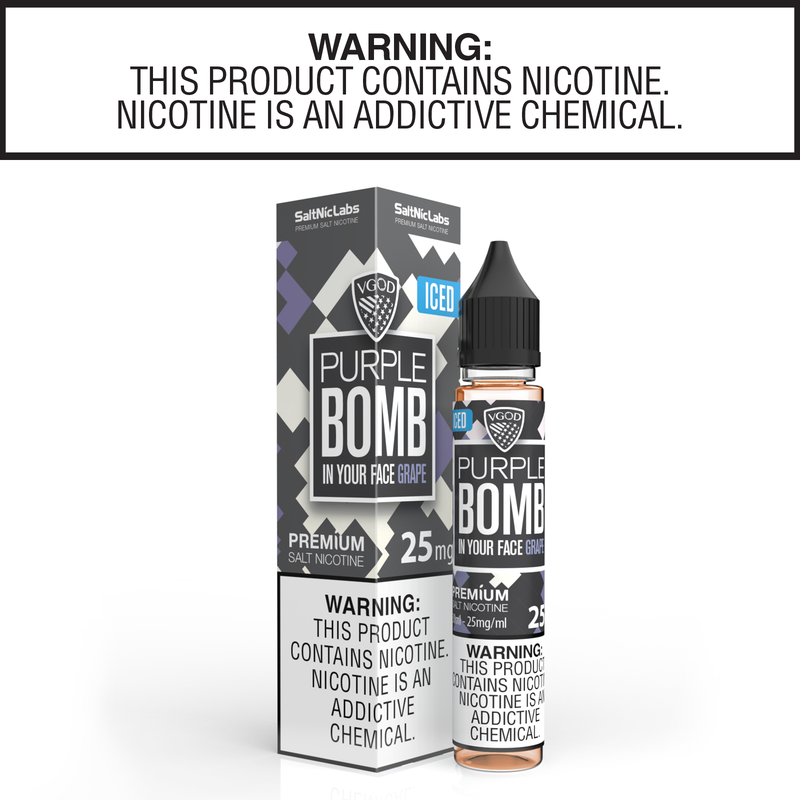 Iced Purple Bomb by VGOD Salt Nic Collection 30ml