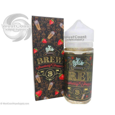Brew Strawberry Frappe Ejuice by Juice Roll Upz 100ml
