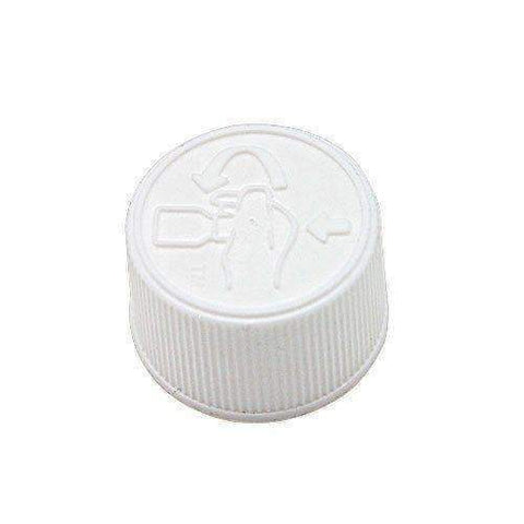 White CRC for Vapetek 30ml 120ml and 180ml PET Bottles 10 Pack