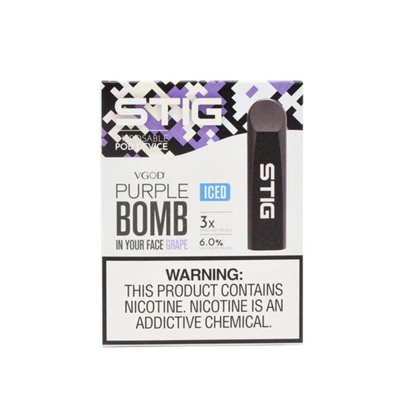 Purple Bomb Ice by VGOD STIG 3 Pack (Disposable Vape Pods)
