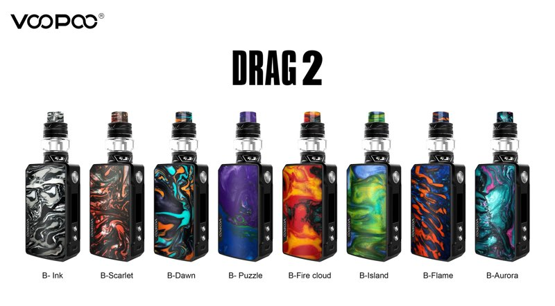 Voopoo Drag 2 Starter Kit With Uforce T2 Tank In Stock 5799