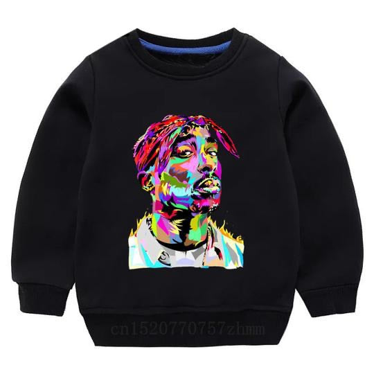 Tupac Sweater - Black Watercolour - nixonscloset