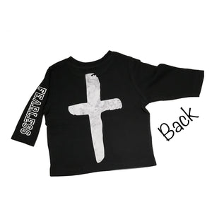 Marble cross back fearless tee- NC X The Label - nixonscloset