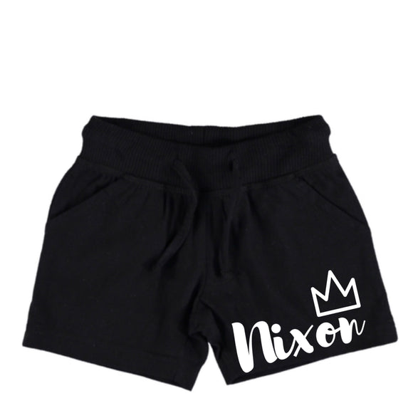 Personalised crown shorts | NC X The Label - nixonscloset
