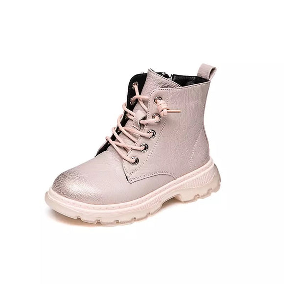 Metallic kids boots - Pink