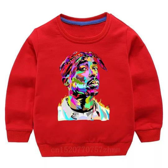 Tupac Sweater - Red Watercolour