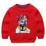 Tupac Sweater - Red Watercolour - nixonscloset