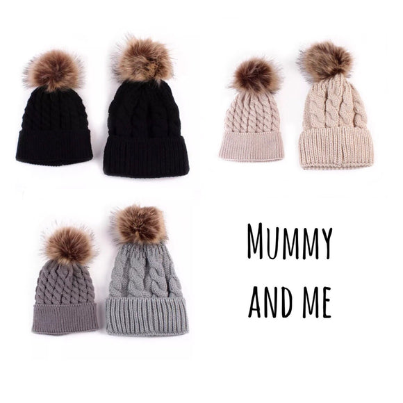 Mummy & Me Matching Beanie SET - nixonscloset