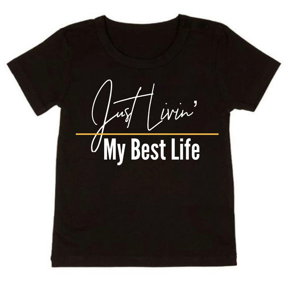Just Livin' My Best Life Tee - NC X The Label - nixonscloset