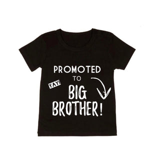 Promoted to big brother tee | black or white tee - mlw by design - nixonscloset