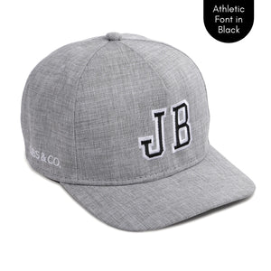PERSONALISED GREY HAT W/ INITIALS | Cubs & Co - Available in XS, S, M, Adult